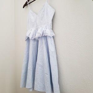 Blue sweetheart neckline skinny strap dress size S